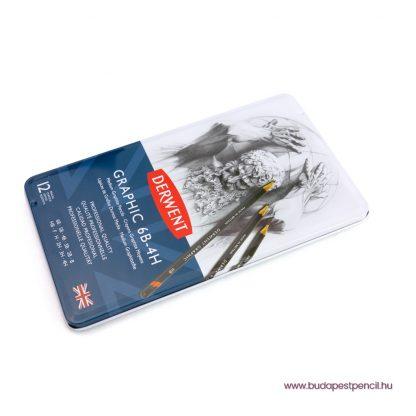 Derwent Graphic – 12 darabos grafitceruza készlet – közepes (6B – 4H)